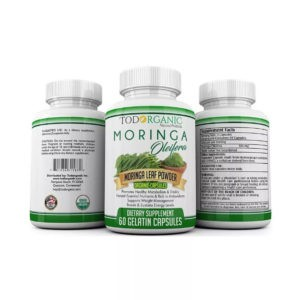 Moringa Oleifera Capsules, Rich Antioxidant.