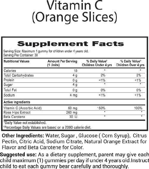 Gomitas de Vitamina C para niños