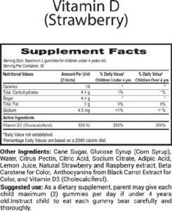 Children Vitamins D, Best Gummies