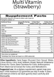 Multi-Vitamin Strawberry, Kids Vitamins