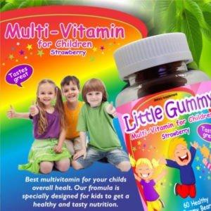 Children Vitamins Multi-Vitamin Strawberry