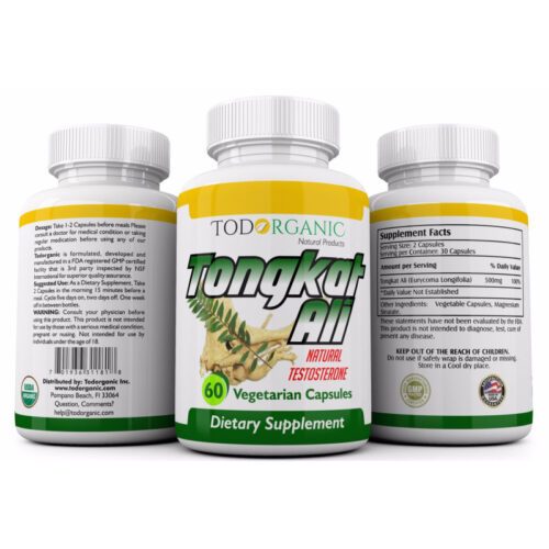 Tongkat Ali Extract Supplements Capsules
