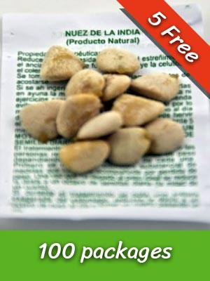 100 Packs Nuez de la India Seeds