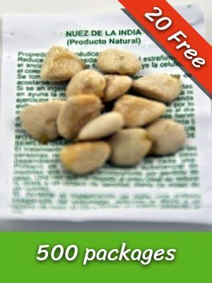 500 Nuez de la India Seeds