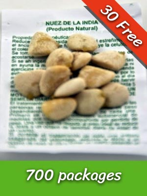 700 Packs Nuez de la India Seeds