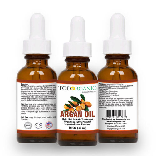 Organic Argan Oil for Hair, Skin, & Nail
